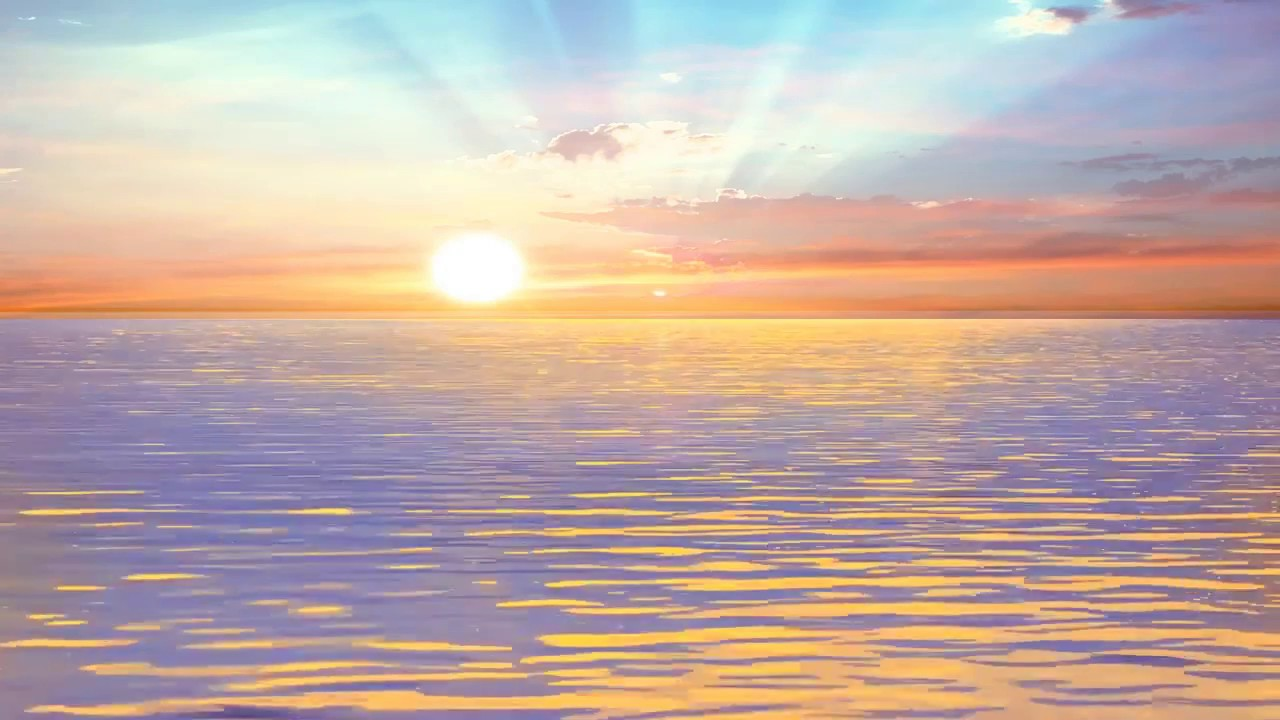 Beautiful Sun Rising And Water Animated Background Video Youtube