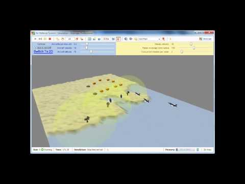 Simulation Software AnyLogic - Military Air Defence 3D Model