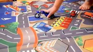 Распаковка игрушек. Трек для машинок, развивающий игровой коврик. Дорога, город дики тойс DICKIEtoys