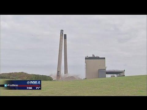 Chimney stacks demolished