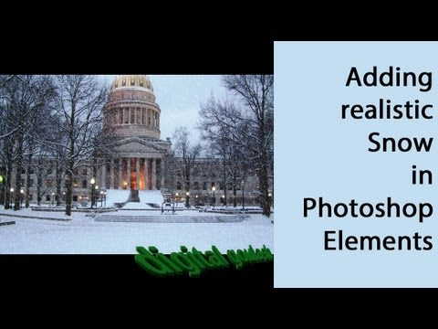 Learn Photoshop Elements - Add Snow to Pictures