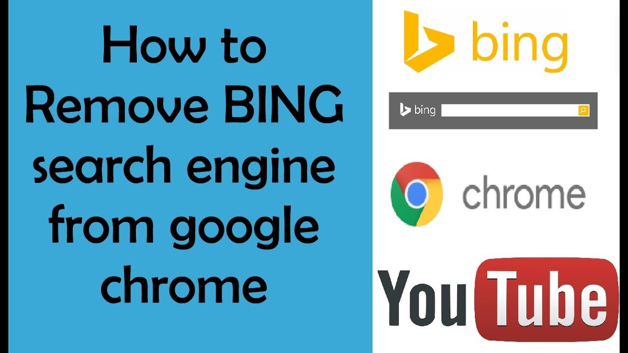 How To Remove BING Search Engine From Google Chrome