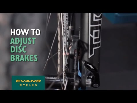 How to adjust disc brakes
