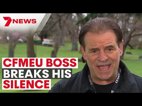 CFMEU Boss John Setka LIVE interview on Melbourne Protests   7NEWS Sunrise