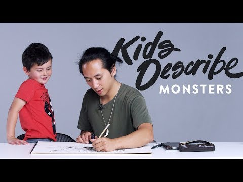 Kids Describe Scary Monsters | Kids Describe | HiHo Kids
