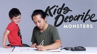 Kids Describe Scary Monsters | Kids Describe | HiHo Kids