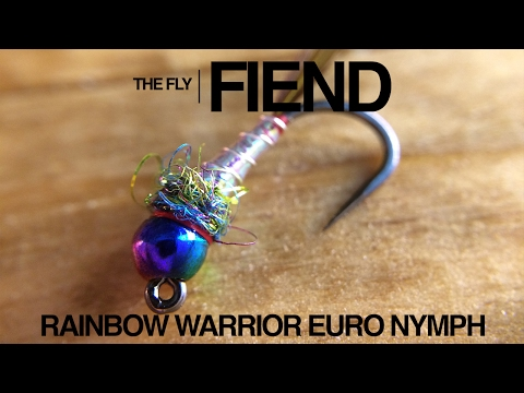 Rainbow Warrior Euro Nymph Fly Tying Tutorial | The Fly Fiend.