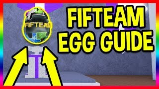 HOW TO GET THE FIFTEAM EGG & ALL 11 PUZZLE PIECES! | EASY GUIDE | Roblox Egg Hunt 2018 Event