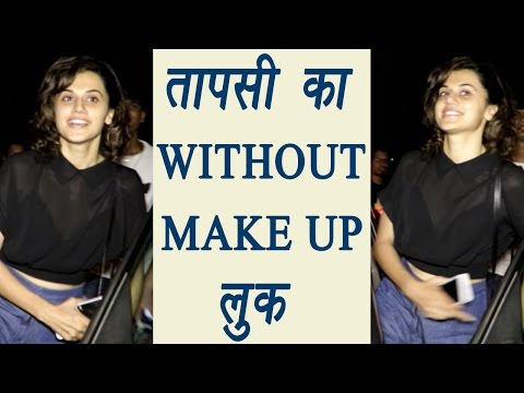 Taapsee Pannu spotted at Juhu in WITHOUT MAKE-UP look   FilmiBeat