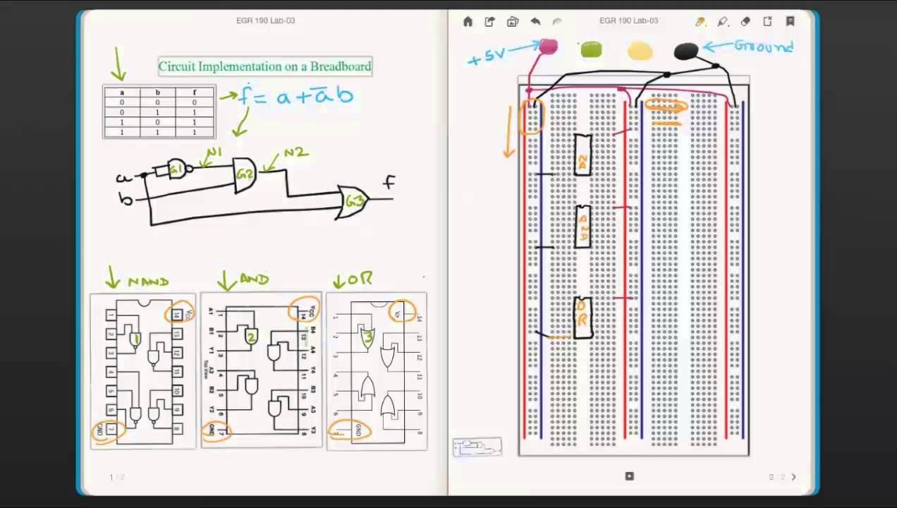 Logic Circuit to Breadboard - YouTube
