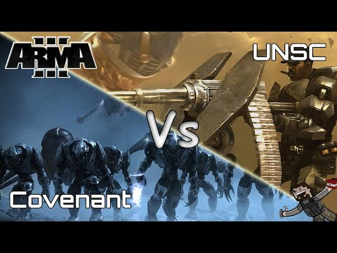 ARMA 3 - Custom Battles (UNSC) Vs (Covenant)