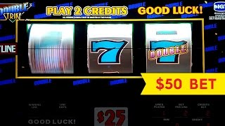 Double Strike Slot - $50 Max Bet - High Limit Live Play!