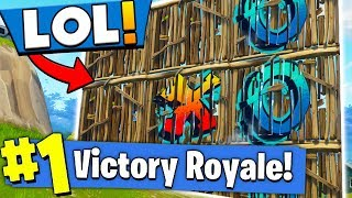 CHALLENGING PLAYERS TO TIC TAC TOE In Fortnite Battle Royale?!