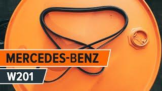 Как и кога се сменя Многоклинов(пистов) ремък на MERCEDES-BENZ 190 (W201): видео урок