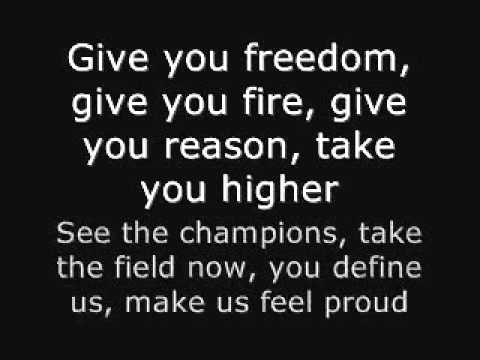 WAVIN FLAG WITH SONG LYRICS