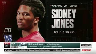 Eagles select SIDNEY JONES!!! GREAT PICK!  *Full* (NFL Draft, 2nd Round)