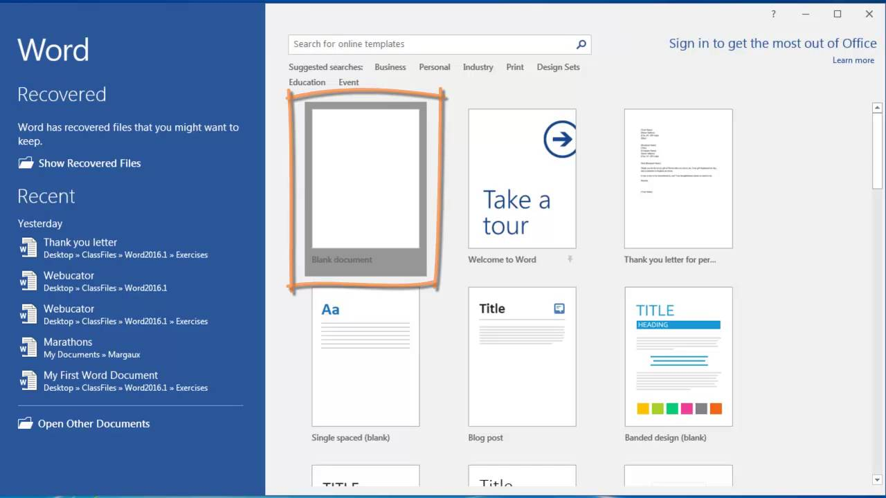 How to Create a New Document in Microsoft Word | Webucator