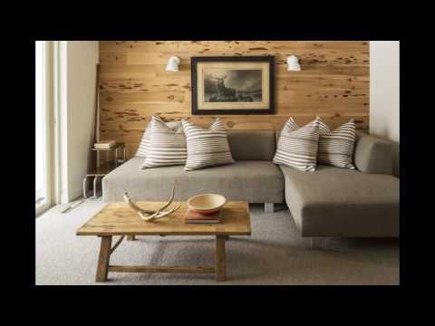 Ламинат на стене в интерьере фото