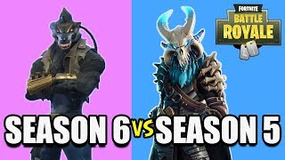 SEASON 6 TIER 100 SKIN VS. SEASON 5 TIER 100 SKIN! DIRE VS. RAGNAROK! (Fortnite Battle Royale)