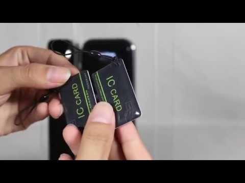 Hướng dẫn lắp đặt và sử dụng khóa vân tay cửa kính Himedia G08 - YouTube