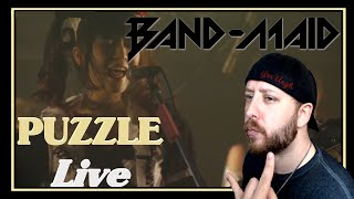 BAND-MAID / Puzzle (Live) REACTION   Metal Musician Reacts