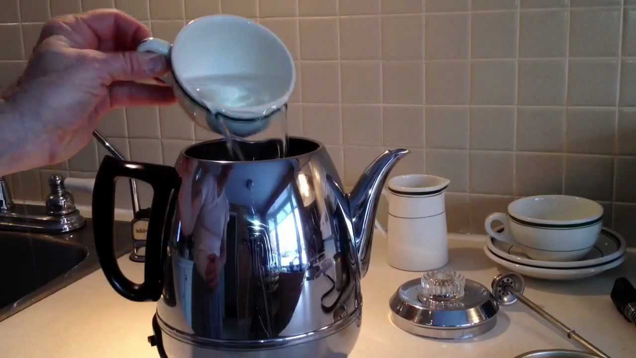 General Electric Coffee Percolator Pot Belly 1950 S Vintage Model P410a Stainless Steel