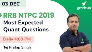 Most Expected Maths Questions for RRB NTPC 2019  Gradeup