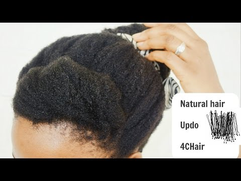 Travel-friendly Updo on 4Cnatural hair | Botswana Youtuber