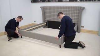 Dunlopillo upholstered bedstead assembly video
