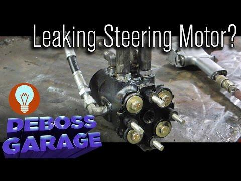 Case IH MX 255 Steering Motor Rebuild