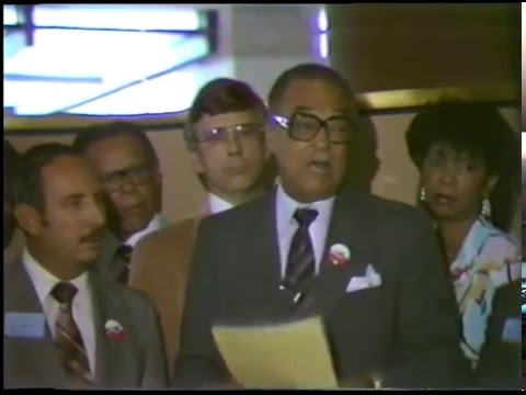 Neighborhood Shopping Days Press Conference in the Renaissance Center (1985)