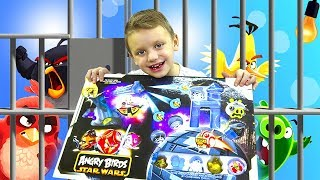 ЭНГРИ БЕРДС СТАР ВАРС Мультик Про ЗЛЫХ ПТИЧЕК Крутая ИГРА / Toys and Game Angry Birds For Kids