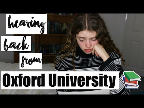 So today I was rejected from Oxford (& there were tears haha) x