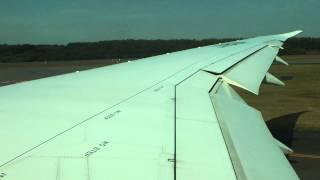 熊本空港 離陸 機窓 ALL NIPPON AIRWAYS BOEING787-8 JA816A