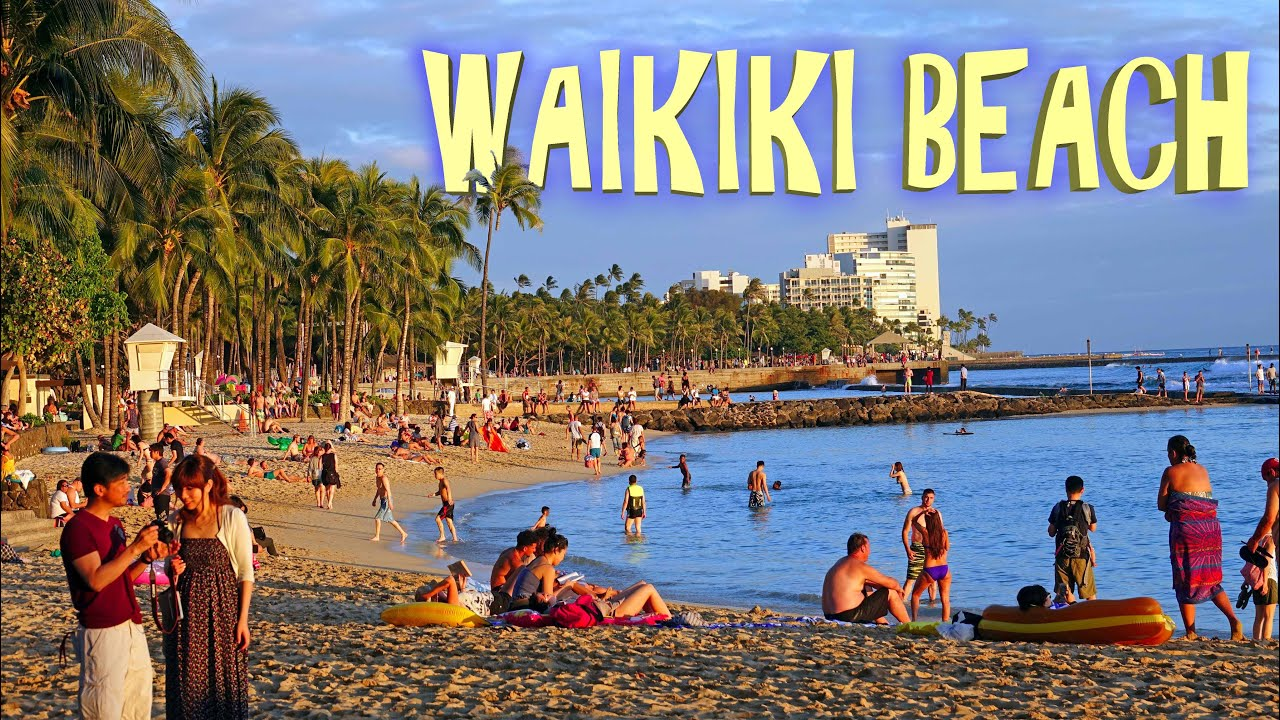 Waikiki Beach Honolulu 4k