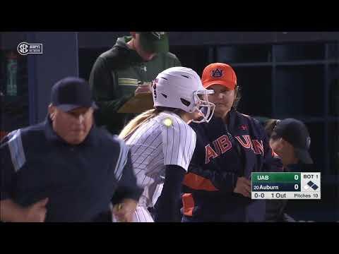 UAB vs #20 Auburn (Feb.14) | NCAA Softball 2019