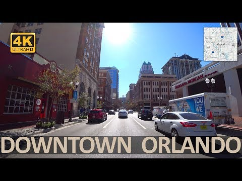 Downtown Orlando Florida (4k) Part 1