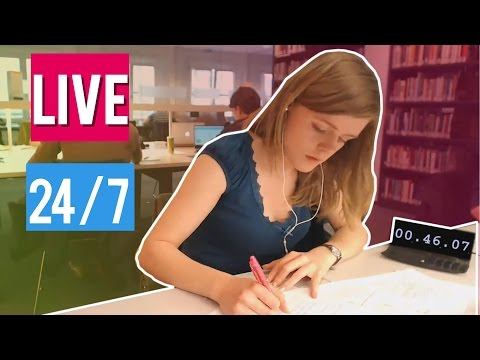 24/7 Study With Me LIVE in University!