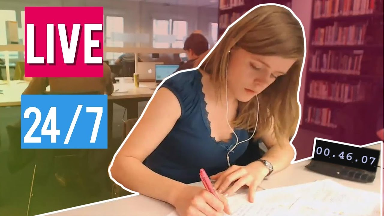 24/7 Study With Me LIVE in University! - YouTube