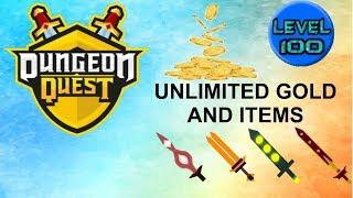 ROBLOX DUNGEON QUEST UNLIMITED GOLD SELTENE ITEMS UND XP GLITCH!!!! (NEU UND ARBEITEN)