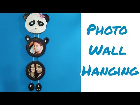 PHOTO WALL HANGING || DIY Home decoration idea || Wall Hanging || Panda Wall Hanging || Photo frame
