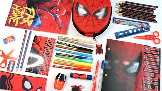 Disney SPIDER-MAN Far From Home Stationery Kit UNBOXING Haul