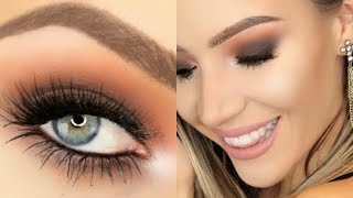 Warm Smokey Eye + Nude Lip (Hooded Eyes) | Stephanie Lange