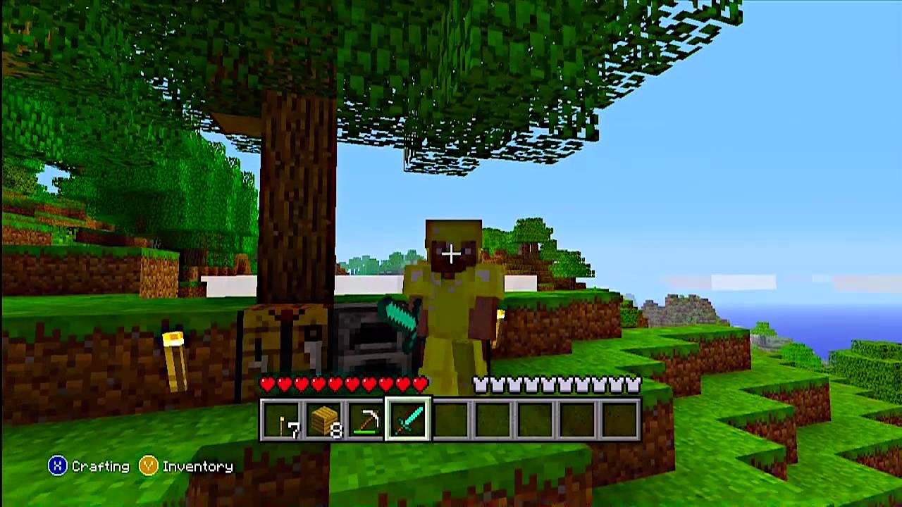 My Minecraft Bling   Gold Armor W/ Diamond Sword
