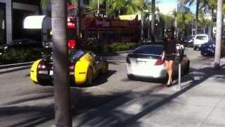 The son of Bijan Parking his Bugatti HD