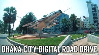 Dhaka City Digital Road Drive | Bijoy Sarani to Airport