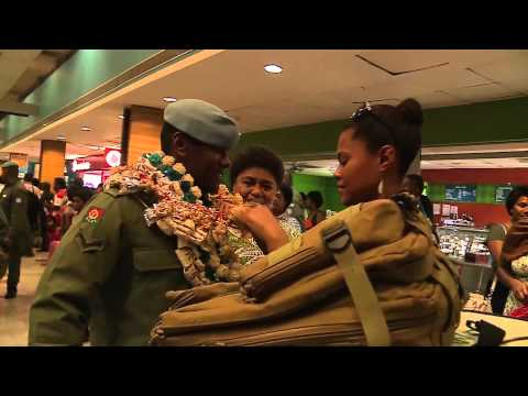 Fijian soldiers from the first Batch return from Golan Heights after peacekeeping mission