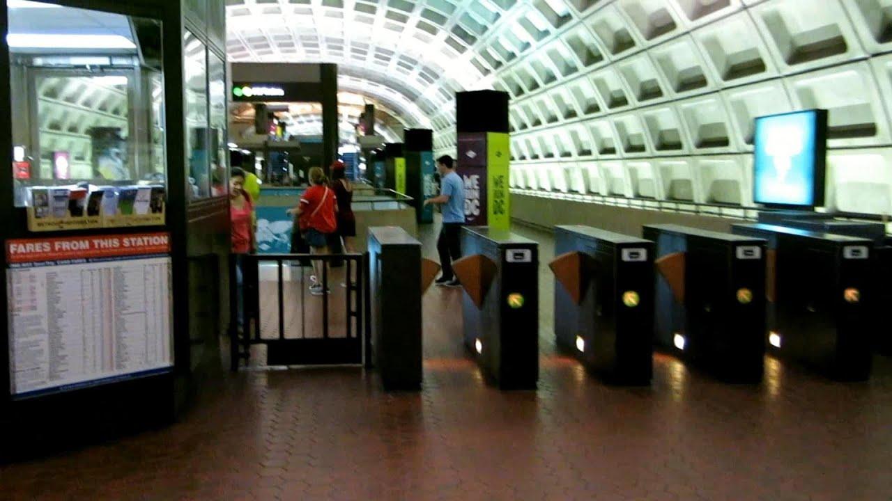 entering gallery place - chinatown metro station  washington dc