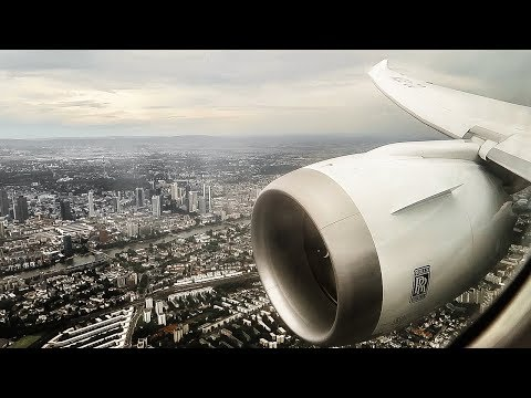 Latam Boeing 787-9 Dreamliner HAZY APPROACH and LANDING at Frankfurt Int. Airport (FRA)