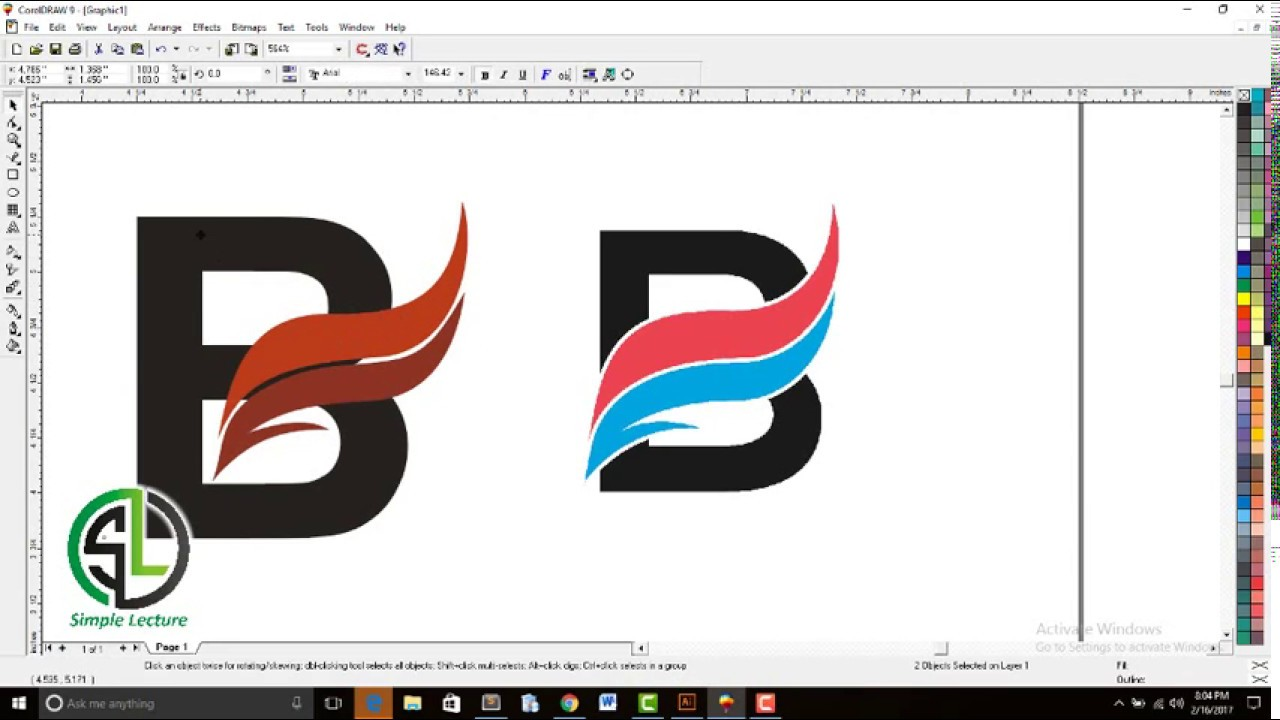Create Your Own Logo Using Corel Draw Youtube